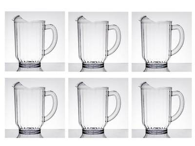 6-Pack Carlisle 554007 VersaPour 60 oz. Clear Polycarbonate Beverage Pitcher