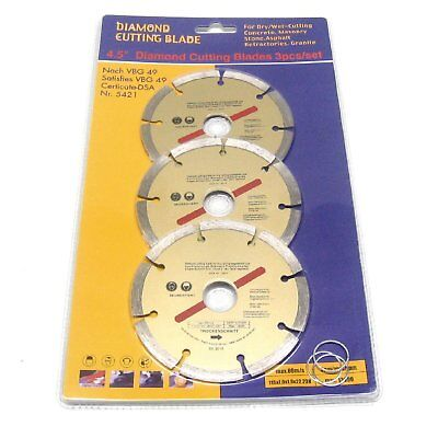 "4.5"" 115mm Diamond Cutting Disc Blade Cutter Angle Grinder Brick Stone Concrete"
