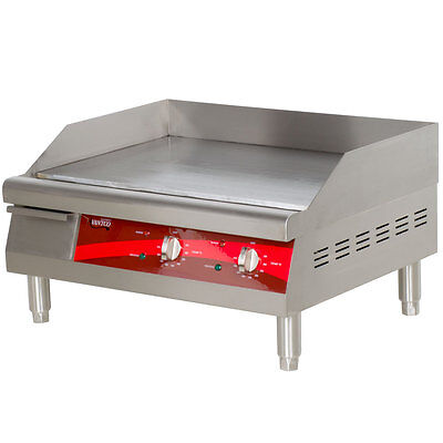 "24"" Stainless Steel Electric Restaurant Countertop Flat Top Griddle 208/240 Volt"