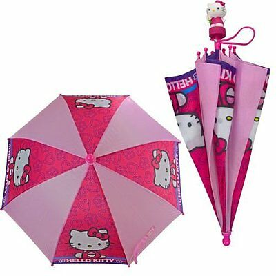 Umbrella - Hello Kitty - Molded Handle Kids/Youth New HKMUM