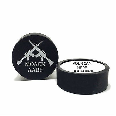 Snuff Cover Waterproof Protective Skins for Dip Chew Cans - Molon Labe