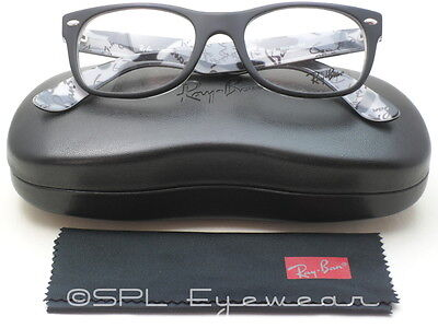 65a671e2e3 Ray Ban Glasses New Wayfarer Optics RX RB5184 5405 Black Frame Clear Lens 52  MM!