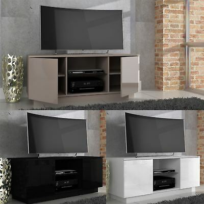 """Lima High Gloss Plasma Tv Stand Cabinet Entertainment Unit Suitable Up To 55"""""""