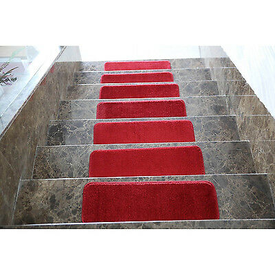 Non Slip Stairway Tread Set 7 Carpet Anti Skid Rubber Safety Rug Pad Step Stair