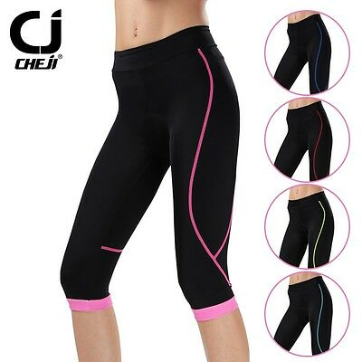 Women Cycling Clothing Bike Bicycle 3D GEL Padded Lycra Capri Pants S-XL shorts
