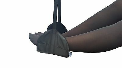 Sleepy Ride Airplane Footrest Lightweight Small Carry-On Travel Accessory Black