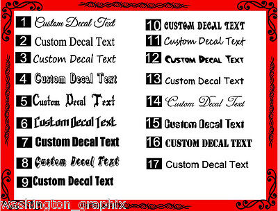CUSTOM TEXT Personalised Name Lettering Funny Car/Van/Window Decal Sticker