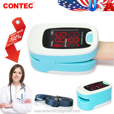 US Finger Fingertip Blood Oxygen Meter SPO2 LED Pulse Heart Rate Monitor,Pouch