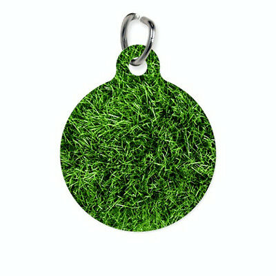 Pet ID Name Tag Green Grass Background Customised Personalised Dog Cat Name Tag