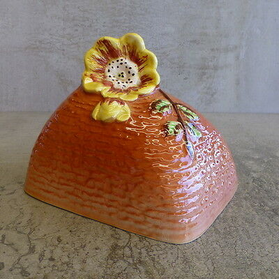 Vintage Shorter & Son Butter Cover NO PLATE English Pottery Cloche Yellow