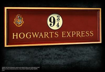 Harry Potter : HOGWARTS EXPRESS Platform 9 3/4 Wall Plaque from Noble Collection
