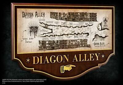 Harry Potter : DIAGON ALLEY Wall Plaque from The Noble Collection NOB7058
