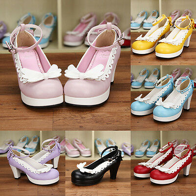 Gothic Sweet Lolita Femmes chaussure Escarpins shoes pumps aile cosplay costume