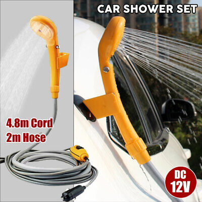 Portable Automobile Shower Set 12V Water Pump Travel Trip Camp Boat Car Caravan