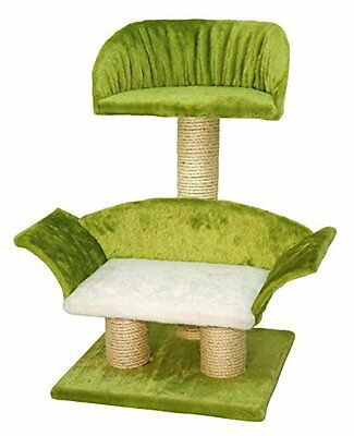 Kerbl Lounge Cat Scratching Post, 42 x 37 x 70 cm, White  Green