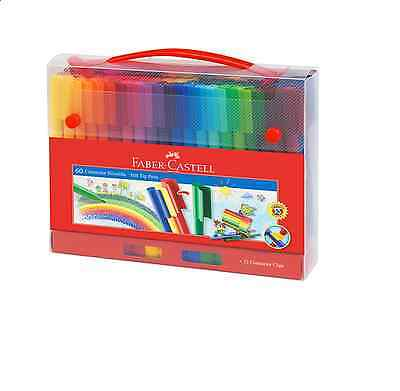 Faber-Castell 60 Connector Pen Washable Ink Marker 60 colours Gift Box new