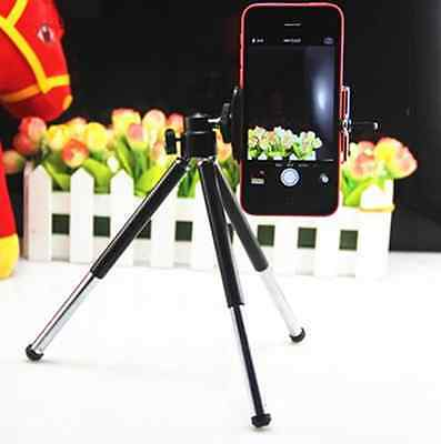 Universal Mini 360° Rotatable Stand Tripod Mount+Holder for iPhone Smart Phone
