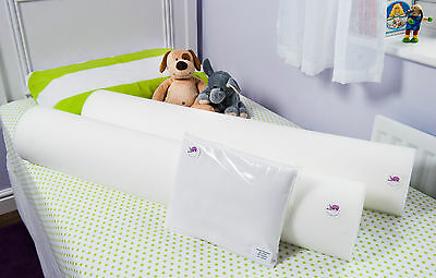 The Big Bed TADPOLE Pack for single beds - 100% COTSAFE Foam Bed Guard Bumpers