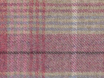 Abraham Moon Torrin Plaid Candy Check Upholstery Fabric 100% Wool M&s £18 Metre