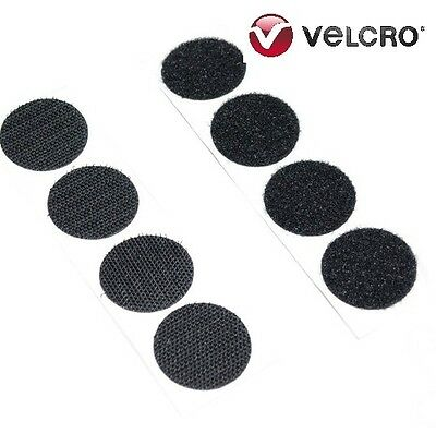 VELCRO® brand 13mm Dots BLACK Self Adhesive Sticky Coins Hook (50) Loop (50)