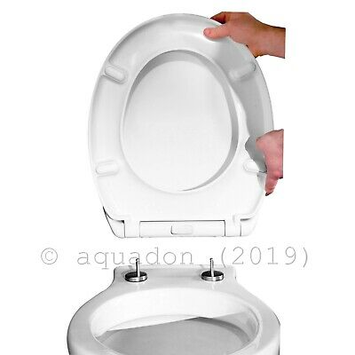 Soft-Close Top-fix Quick Release Toilet Seat with Chrome Hinges