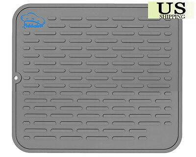 """EXTRA LARGE Silicone Dish Drying Mat 17.8"""" x 15.8"""" 