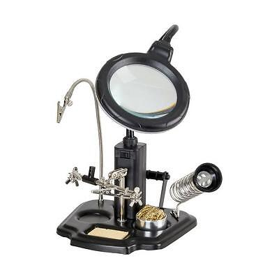 Multi-function Magnifier Magnifying Glass LED Light Illumination Soldering Stand
