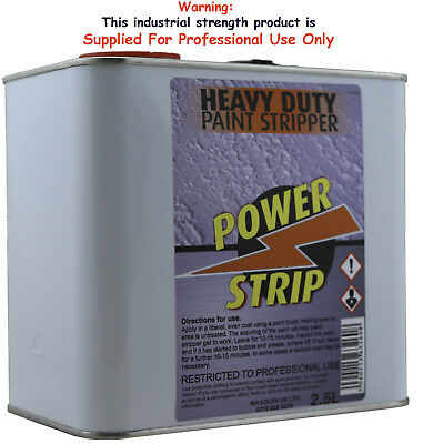 Power Strip Paint Stripper Remover High Strength 2.5L Wood Furniture Restoration