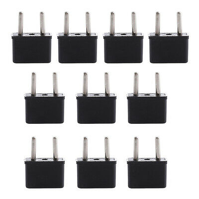 10 PCS USA US to EU Euro Europe AC Power Plug Converter Travel Adapter Charger