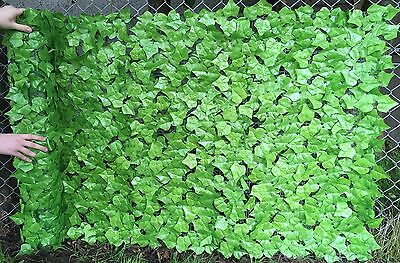 Best Artificial Light English Ivy Leaf Screening 3m x 1m Hedging Garden Fence