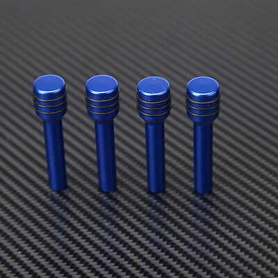 4x Car Vehicle Interior Door Lock Knob Pull Pins Knob Aluminum Blue Universal