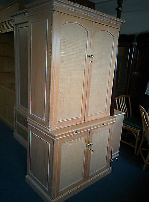 Caning Cane Rattan Cabinet / Wardrobe made of Limed Oak - EG