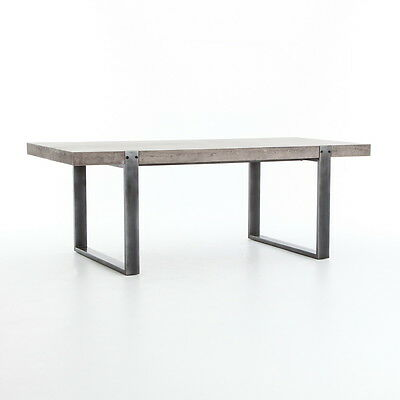 "84"" W Sarah Dining Table Concrete Cement Industrial Design"