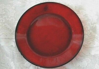 """Collectible Vintage Ruby Red Glass Rimmed 10"""" Dinner Plate"""