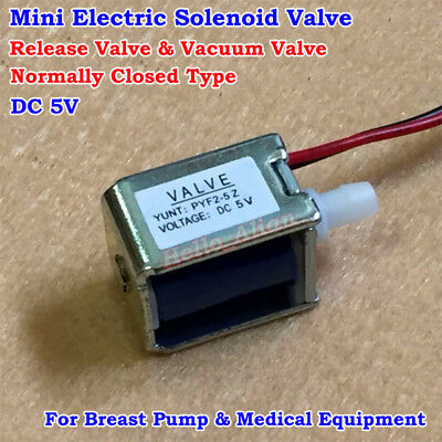 DC 5V 6V Micro Solenoid Valve Normally Closed Type N/C Discouraged Air Gas Valve