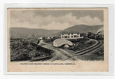 LEADHILLS STATION: Lanarkshire postcard (C2539).