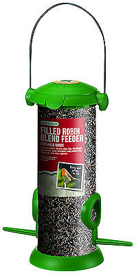 Gardman Filled Flip Top Seed Feeder Robin Blend Wild Bird Garden Outdoor