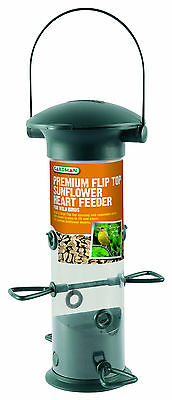 Gardman Premium Flip Top Sunflower Heart Feeder Wild Bird Garden Outdoor Wide