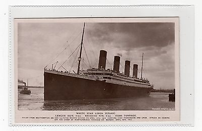 WHITE STAR LINER TITANIC: Post Disaster shipping postcard (C2832).
