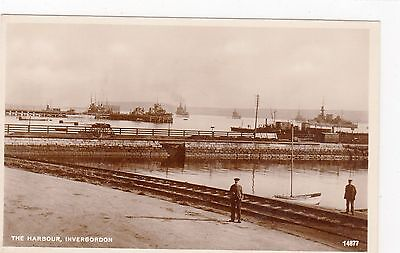 THE HARBOUR, INVERGORDON: Ross-shire postcard (C2715).