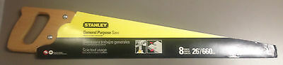 """New Stanley- 15-300 - 26"""" General Purpose Saw"""