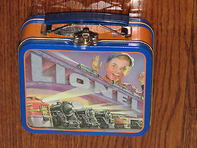 Lionel Trains American Legend Mini Metal Lunch Box w/Candy Nutrition Guide Loose