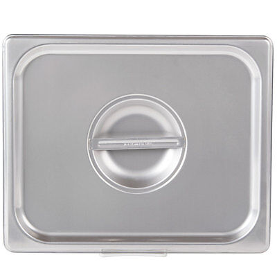 Half Size Solid Stainless Steel Steam Table / Hotel Pan Lid Cover