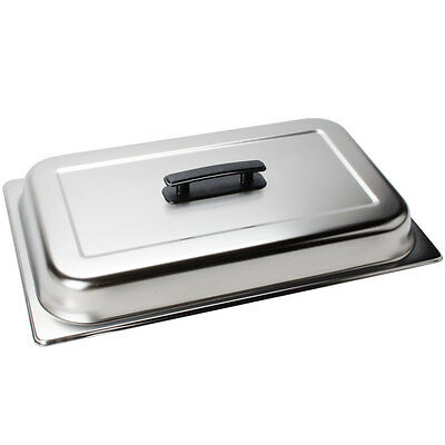Choice Full Size Solid Dome Stainless Steel Steam Table / Hotel Pan Cover Lid