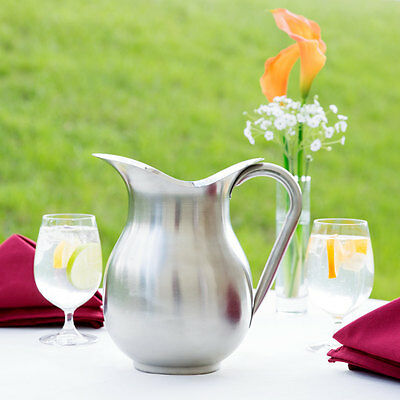3 Qt. Silver Stainless Steel Water Pitcher