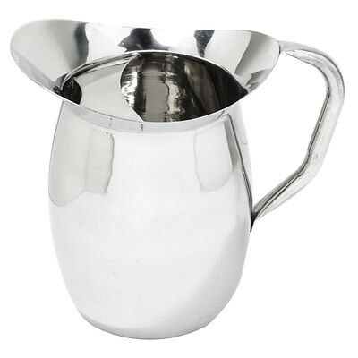 3 Qt. Stainless Steel Silver Bell Pitcher with Ice Guard 407BP3G