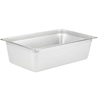 "Full Size 6"" Deep NSF 21 Quart Silver Stainless Steel Hotel Steam Table Pan"