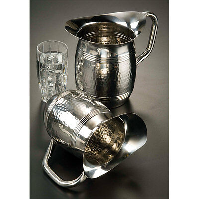 2 Liter Bell Water Pitcher Hammered Stainless Steel 124HMWP85