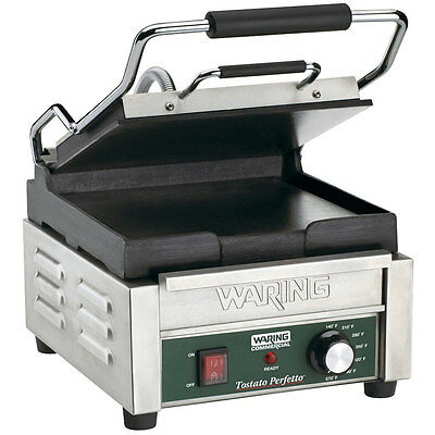 Waring WFG150 Tostato Perfetto Smooth Top & Bottom Panini Sandwich Grill 120V