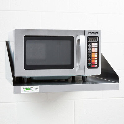 Solwave MW1000SS Stainless Steel Commercial Microwave with Push Button Controls